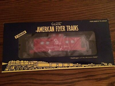 American Flyer By Lionel 48743 C & O Caboose New in Box!