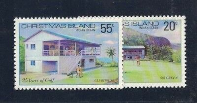 1980 Christmas Island Golf SG 120/1 fine muh set
