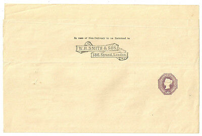 Queen Victoria 6D Lilac Undated Die Large Unused W.h.smith & Son Wrapper