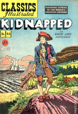 Classics Illustrated 046 Kidnapped #1 1948 GD/VG 3.0 Stock Image Low Grade