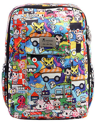 Ju Ju Be Tokidoki X MiniBe Backpack Baby Diaper Bag Sushi Cars NEW