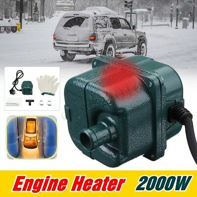 220V 2000W Auto Car Engine Pump Water Tank Air Cooled Engine Heater Preheater EU