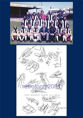 West Bromwich Albion Fc 1978-79 Cyrille Regis Laurie Cunningham Signed (Printed)