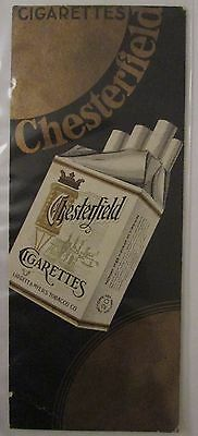 Ancien Marque Pages Signet Publicitaire Tabac Cigarettes Chesterfield