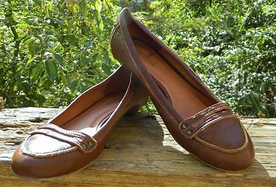 VINTAGE Cellini Comfortable and Chic Brown Leather Ballet Flats Size 6