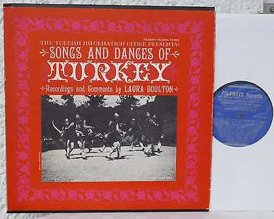 TURKEY  Songs And Dances   FOLKWAYS  LP   Türkei