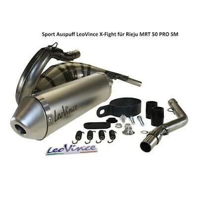 SPORTS EXHAUST LEOVINCE x Fight for Rieju MRT 50 Pro SM Tuning Exhaust NEW