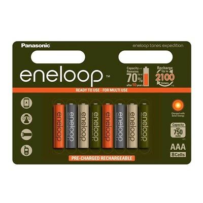8x Panasonic AAA Eneloop NIMH Rechargeable Batteries EXPEDITION LIMITED EDITION