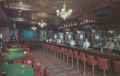 LAS VEGAS, NEVADA ~ The BAR in the GOLDEN NUGGET SALOON and RESTAURANT ~ c1955