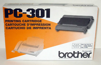 BROTHER PC-301 NEW Sealed Fax Printing Cartridge OEM