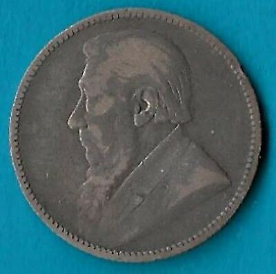+ 1896 South Africa 1 Shilling Silver Coin KM#5