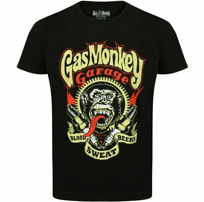 Official Gas Monkey Garage Essentials Mens Spark Plugs T-Shirt Hot Rod GMG