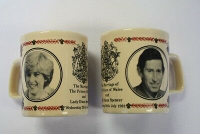 Pair Of Coffee Cups, Marriage Of Lady Diane Spencer And The Prince Of Wales