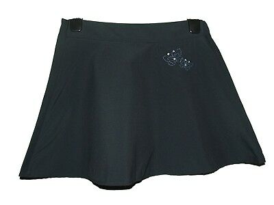 Fab New Girls Ex M & S Navy Flared Embroidered School Skirt Age 5-12 (J)