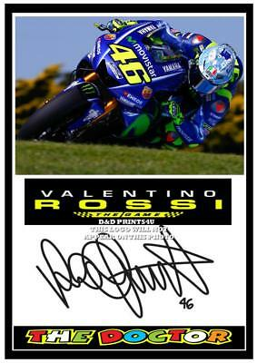 045.  Valentino Rossi The Doctor Signed Reproduction Print Size A4