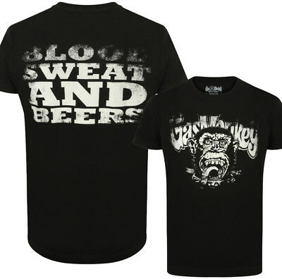 Official Gas Monkey Garage Essentials Mens Blood Sweat And Beers T-Shirt  GMG