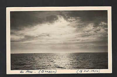 BRAZZA (CONGO) en MER , Carte-Photo en 1950
