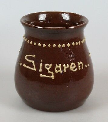"Dutch art nouveau pottery vase ""Cigars"" in Amstelhoek style"