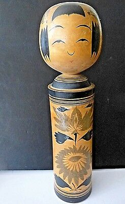 Vintage Wooden Japanese KOKESHI Doll 14 inches Signed