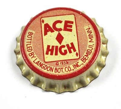 Vintage ACE High Kronkorken USA Bier Soda Bottle Cap Korkdichtung