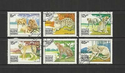 Guinea Bissau ~ 1984 Big Wild Cats (Cto Part Set)