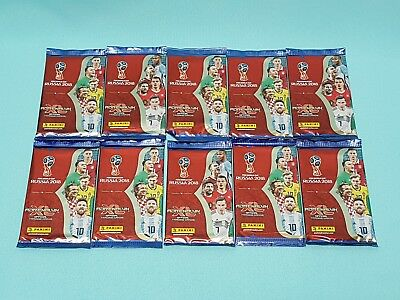 Panini Adrenalyn XL World Cup Russia 2018 10 Booster / 60 Trading Cards WM