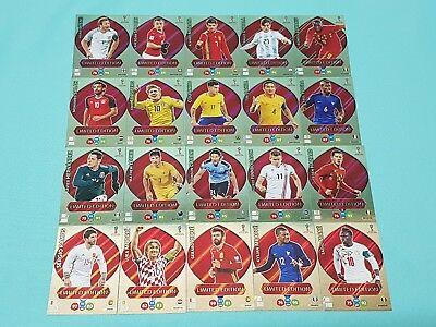 Panini Adrenalyn WM World Cup Russia 2018 Set 1 - 20 x Limited Edition Karten