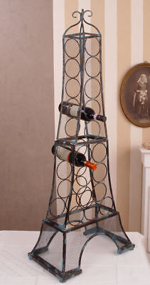 French Wine Bottle Rack Eiffel Tower in the Antique Style Vintage