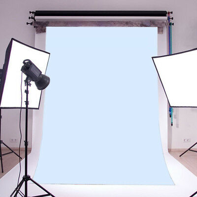 Solid Baby Blue Backdrop Photography Studio Props Vinyl Photo Background 5X7FT