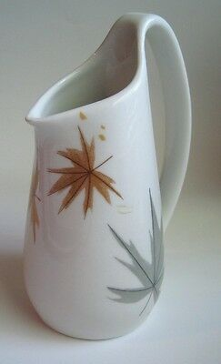 Vintage IROQUOIS BEN SEIBEL Creamer Cream Syrup Pitcher Harvest Time Fall Leaves