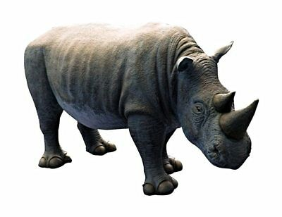 Rhino Baby Rhinoceros Life Size Jungle Zoo Theme Decor Statue
