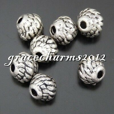 48x Vintage Silver Alloy Receptacle Ball Pendants Finding Charm Crafts 50483
