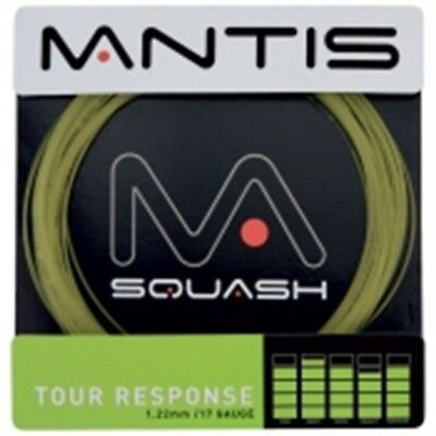 10m 17g Schwarze Mantis Tour Antwort Tennis String Set - Black Saitensatz