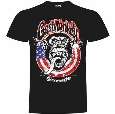 Official Gas Monkey Garage Essentials Mens Large Monkey Circle T-Shirt GMG