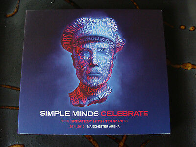 Slip Double: Simple Minds : Celebrate Greatest Hits + Tour 2013 Manchester Arena
