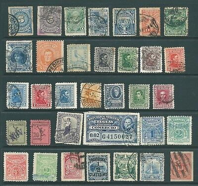 URUGUAY vintage stamp collection from the 19th Century onwards