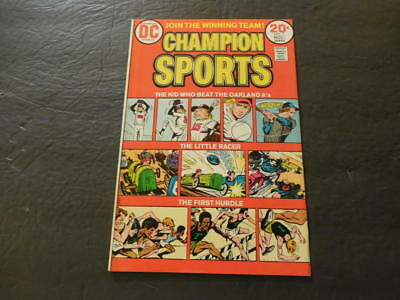 Champion Sports #1 Nov 1973 Bronze Age DC Comics    ID:27118
