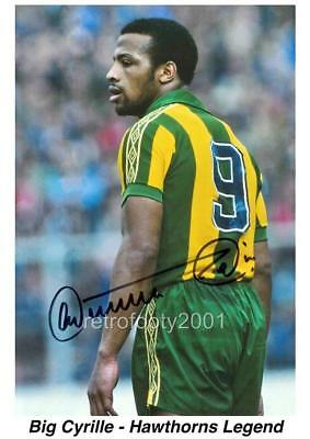 West Bromwich Albion Fc West Brom Legend Cyrille Regis Signed (Printed) A4 Print