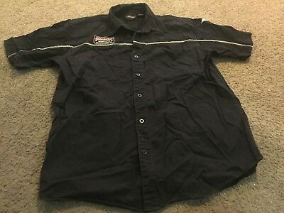 Nice men's size XL Dickies Workforce Manufacturing Co. black button front shirt