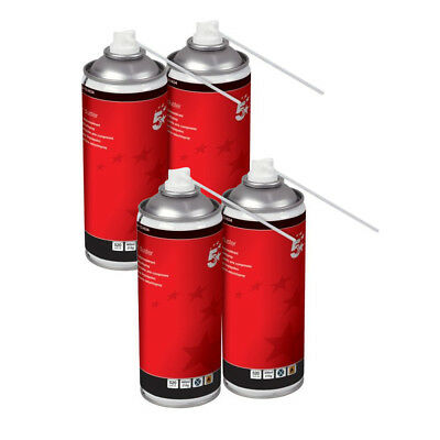 4 x 5 Star Compressed Air Duster Can Laptop Keyboard Cleaner Spray 400ml