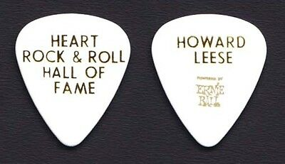 Heart Howard Leese White Guitar Pick 2013 Rock Hall of Fame Induction