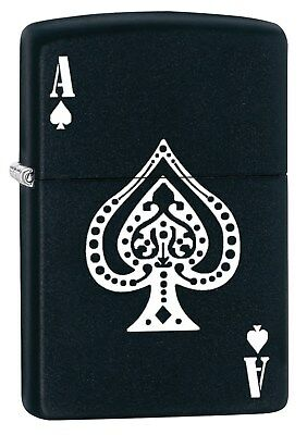 Zippo Lighter: Ace of Spades - Black Matte 77049