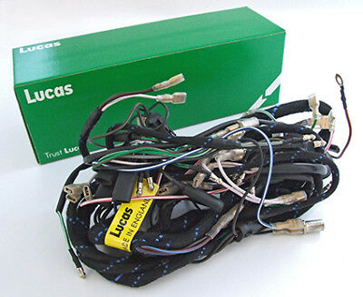 lucas main wiring harness triumph pre unit t100 5t mag / dyno nacelle (1949-