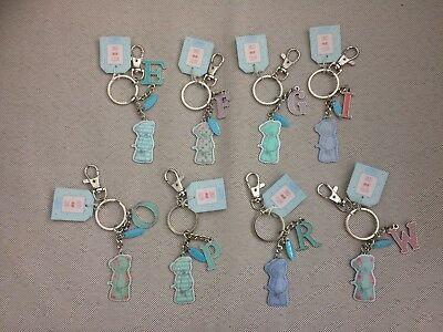 Me To You Bear Keyring Tatty Teddy Charm & Initial Letter Alphabet Personalised