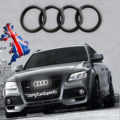 Audi Led Emblem Edition A3 A4 A5  Light Front Grill Logo Badge Rings  Black
