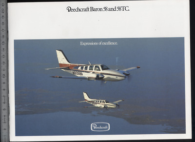 (192) Brochure aviation Aircraft Beechcraft Baron 58 and 58TC