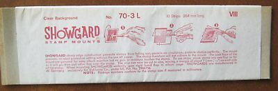Showgard Stamp Mounts Size 70-3L 10 strips 264mm Clear 1980's NOS