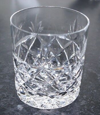 Royal Brierley Bruce Cut Crystal Whisky Tumbler DoF Spirit & Mixer Glass