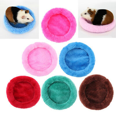 Soft Fleece Guinea Pig Winter Small Animals Cage Mat Hamster Sleeping Bed S-L