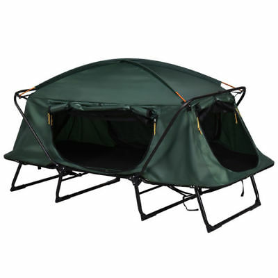 Single 1 Person Folding Camping Waterproof Tent Cot Bed Raised Mat Hiking Bag